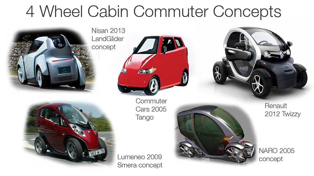 Cabin Commuters 4 wheels